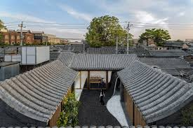 twisting courtyard once a siheyuan now a contemporary house by