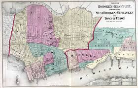 New York State Map With Cities And Towns by New Jersey Historical Maps