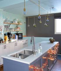 diy kitchen lighting ideas kitchen hanging bulb kitchen lighting setup with blue decoration