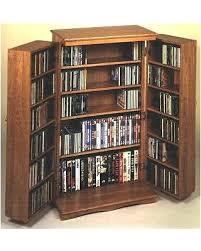 Oak Dvd Storage Cabinet Pallet Wood Dvd Rack Tiathompson Me
