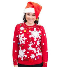 ugly christmas sweater kit free led ornaments included