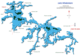 Beaver Lake Map Map Of Lake Windermere