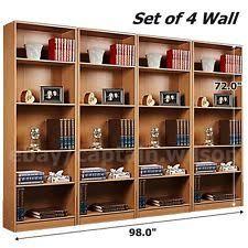 Mainstays 5 Shelf Bookcase Alder Alder Bookcases Ebay