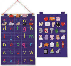 alphabet abc fabric wall hanging lower case letters wall chart