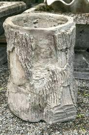 planters faux bois cement planters tree stump planter mold faux