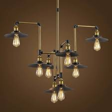 Commercial Chandeliers Industrial Style 8 Light Large Pendant Chandelier Commercial For