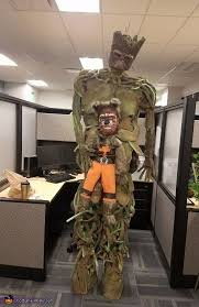 groot costume of the galaxy rocket and groot costume