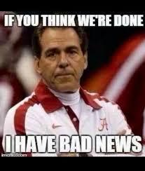 Winning Baby Meme - bad news alabama isn t finished winning college football oh