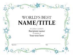 World S Best Award Certificate Office Templates Worlds Best Ppt