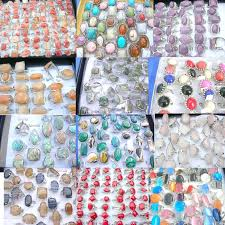 stone rings wholesale images 100 pcs wholesale rings gemstone jewelry cheap rings ship from us jpg