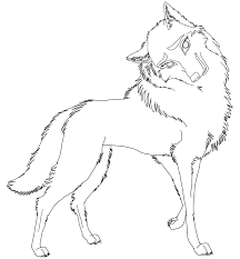 free female wolf rendered lineart psd by agentwhitehawk on