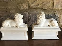 lion bookends vintage alva musuem replica lion bookends new york library