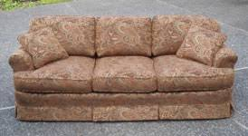 a classic reupholstered couch it u0027s bout time upholstery