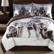 Wolf Bedding Set Shadow Wolf Comforter Set And Window Treatments From Montgomery