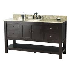 In Bathroom Vanities Bath The Home Depot - Elements 36 inch granite top single sink bathroom vanity
