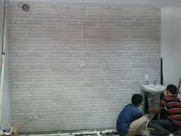 wallpaper design batu bata jual wallpaper dinding batu bata putih efron decor tokopedia