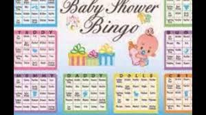 baby shower bingo youtube