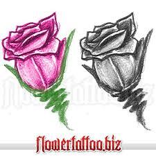 rose bud as tattoo design