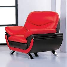 Shop Beverly Hills Furniture Jonus Modern Red Black Leather Accent