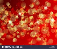 valentines day lights s day background with heart shaped bokeh lights stock