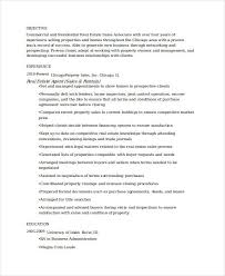 Resume Sample For Real Estate Agent real estate agent resume real estate resume templates sample new