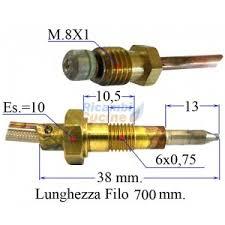 ricambi piano cottura termocoppia per piano cottura valvolato varie marche 700 mm