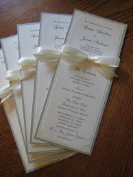 program paper wedding program in custom colors including faux gold ink fonts