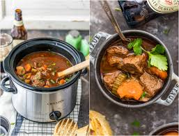 slow cooker guinness beef stew the cookie rookie