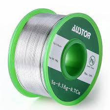 austor 0 8mm lead free solder wire with rosin core sn 99 ag 0 3