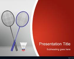 badminton powerpoint template is a free powerpoint template for