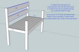 Wooden Garden Bench Plans by Ana White Garden Bench Diy Projects