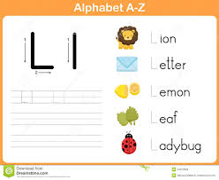 alphabet tracing worksheet writing a z stock vector image 44973639