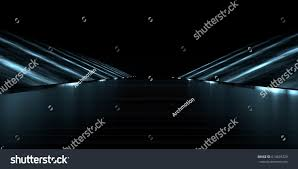 3d rendering futuristic road lights stock illustration 614625329