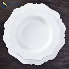 ceramic wedding plates flower shape ceramic dinner plates plate for wedding