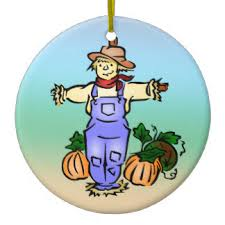 pumpkin scarecrow ornaments keepsake ornaments zazzle