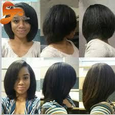 best silky straight human hair bob wigs for black women brazilian