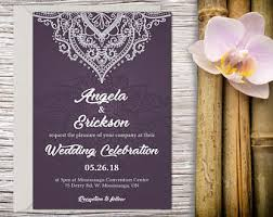 Wedding Invitation Hindu Ganesh Purple Hindu Wedding Invite