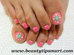 simple and easy foot nail art designs for feet