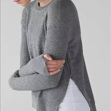 slit sweater 63 lululemon athletica sweaters lululemon side slit sweater