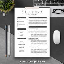 most popular resume cv template the stella instant download