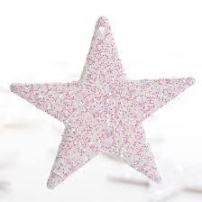 small white iridescent glitter ornaments