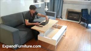 coffee table that raises up coffee table more functions in compact design convertible
