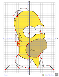 four quadrant graphing worksheets with characters the kids will