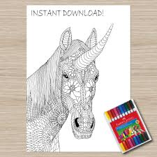 printable unicorn coloring page unicorn coloring