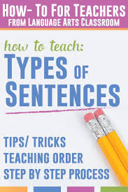 Declarative And Interrogative Sentences Worksheets Best 25 Types Of Sentences Ideas Only On Pinterest 4 Types Of