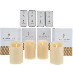 luminara 4 4 flameless candles with 4 remotes and gift boxes