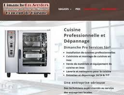 depannage cuisine professionnelle site vitrine dépannage création de site ève vaud