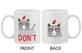 cute grumpy cat holiday coffee mug feliz navidon u0027t funny coffee mug