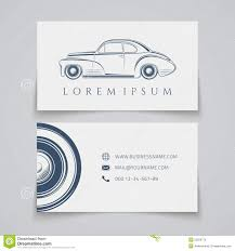 business card template classic car logo stock vector image