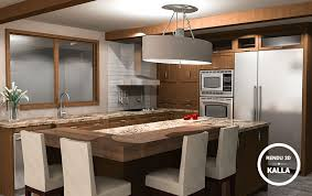 conception cuisine 3d design conception armoires cuisine mobilier sur mesure kalla